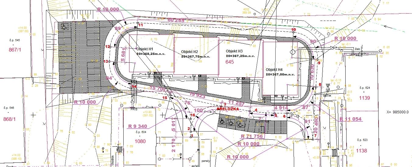 Projekty staveb